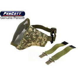 TMC PDW メッシュマスク (ヘルメット取付け用ベルト付属) ペンコットバッドランド迷彩 実物生地使用 サバゲー,サバイバルゲーム,ミリタリー
