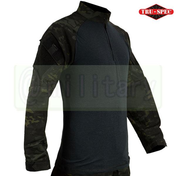 サバゲー★大感謝フェア★ TRU-SPEC Tactical Response Uniform コンバットシャツ マルチカムブラック