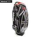 ADMIRAL アドミラル ゴルフ キャディバッグ ADMG9FC2 9.5型 3.9kg 46インチ対応 口枠6分割 ブラック(10) CB252