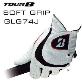 ゴルフグローブ ブリヂストン TOUR B SOFT GRIP ツアービー ソフトグリップ GLG74J ホワイト 白(21〜26cm) ゆうパケット送料無料