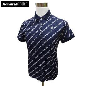 ADMIRAL アドミラル ゴルフウェア 春夏 メンズウエア ポロシャツ ADMA938NVY(30) M:SSM480 L:SSM481 LL:SSM482