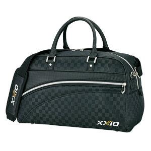 ダンロップ XXIO ゼクシオ ゴルフ ボストンバッグ GGB-X111 ブラックチェック L48×H27×W22(cm)BB173