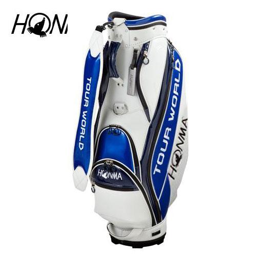 ゴルフ メンズ キャディバッグ 本間ゴルフ HONMA ホンマゴルフ コンパクトスポーツモデル CB-1731 ホワイト/ブルー 9型