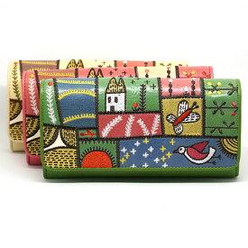 ホコモモラ デ シビラ 長財布 5388002 カンポ ピンク ベージュ グリーン Jocomomola de Sybilla スペイン 刺繍 草原 野原 パッチワーク