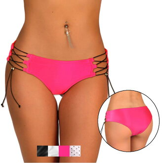 SANNA's swimwear lace-up high rise bikini bottoms only top and bottom separately ◆ next day delivery Brazilian style Japan-10P05July14