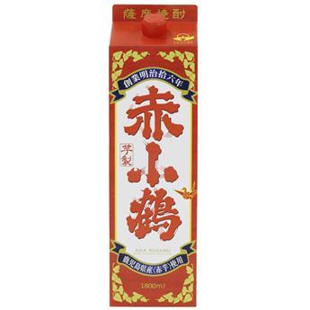 薩摩芋焼酎 小正醸造 赤小鶴 25度 1800mlパック