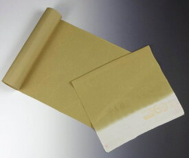【送料無料】【フルオーダー手縫いお仕立て込み】【反物購入可能】 京都魔法の染物「夢黄櫨染」 丹後ちりめん 小紋 うっすら流水文様 芥子系色