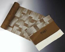 【送料無料】【フルオーダー手縫いお仕立て込み】【反物購入可能】 京都魔法の染物「夢黄櫨染」 丹後ちりめん 小紋 かすり染め 茶系色