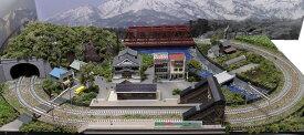 「送料込み」鉄道模型ジオラマレイアウトNゲージ用 複線[90cm×60cm]赤い鉄橋のある町●注文製作●90x60−12