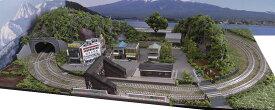「送料込み」鉄道模型ジオラマレイアウトNゲージ用 複線[90cm×60cm]昭和の駅前2●注文製作●90x60−10
