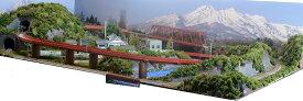 「送料込み」鉄道模型ジオラマレイアウトNゲージ用 単線[120cm×60cm]ループ橋のある町●注文製作●120x60−8
