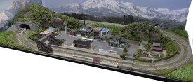 「送料込」鉄道模型ジオラマレイアウトNゲージ用 複線[120cm×60cm]畑のある昭和の町2●注文製作●120x60−13