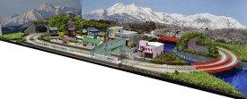 「見つけたらラッキー」「送料込み」鉄道模型ジオラマレイアウトNゲージ用 複線[120cm×60cm]川がある町●注文製作●120x60−5