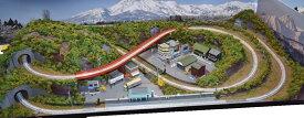 「送料込み」鉄道模型ジオラマレイアウトNゲージ用 単線[120cm×60cm]8の字●注文製作●120x60−2