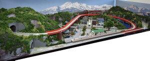 「送料込み」鉄道模型ジオラマレイアウトNゲージ用 単線[150cm×60cm]川のある町(8の字立体交差)●注文製作●150x60−1