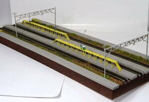 Nゲージ鉄道模型用展示台E【洗浄台、三線架線柱とヤード3線路】●注文製作●
