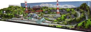 鉄道模型ジオラマレイアウトNゲージ用 単線[183cm×92cm]田舎の風景●注文製作●183x92−2
