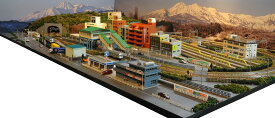 「送料込み」鉄道模型ジオラマレイアウトNゲージ用 複線[150cm×90cm]現代風景と4線ヤード●注文製作●150x90−2