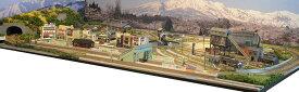 「送料込み」鉄道模型ジオラマレイアウトNゲージ用 複線[150cm×90cm]蒸気機関車の走る町(転車台)●注文製作●150x90−1