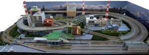 鉄道模型ジオラマレイアウトNゲージ用 複線渡線[183cm×92cm]現代風景8の字●注文製作●183x92−1