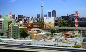 鉄道模型ジオラマレイアウトNゲージ用 複線 現代風景 8の字 [240cm×120cm]●注文製作●240x120−1