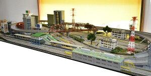 鉄道模型ジオラマレイアウトNゲージ用 複線渡り線[210cm×90cm]現代の風景 9線ヤ−ド(奥5線、中間2線、手前2線)●注文製作●210x90−2