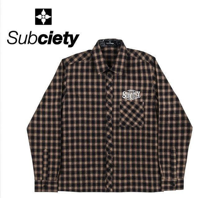 SUBCIETY サブサエティー NYB CHECK SHIRT L/S-WELL MADE 長袖シャツ