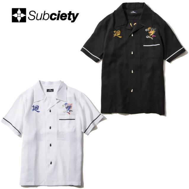 セール50%オフ SUBCIETY サブサエティー BOWLING SHIRT S/S 廻 半袖シャツ