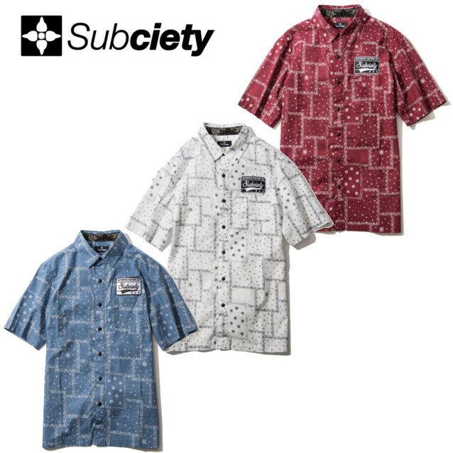 SUBCIETY サブサエティー EMBLEM SHIRT S/S PAISLEY 半袖シャツ