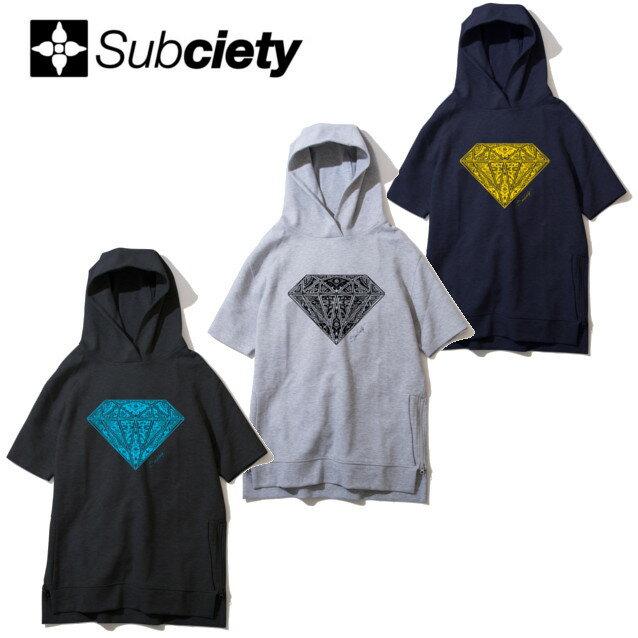SUBCIETY サブサエティー PARKA S/S PAISLEY DIAMOND 半袖パーカー