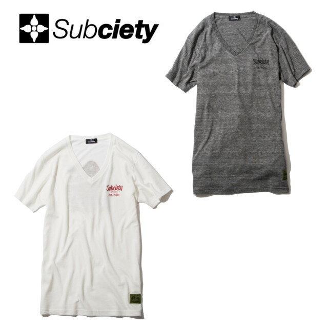 セール50%オフ SUBCIETY サブサエティー V NECK TEE S/S Guadalupe Tシャツ