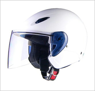 SERIO RE-35 semidget helmet white /LEAD Serio