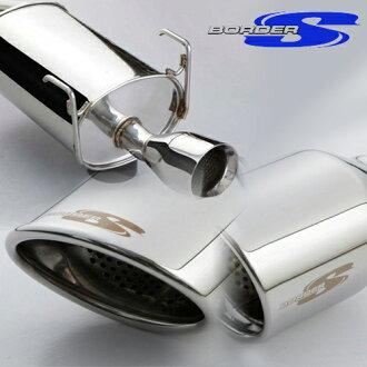 BORDER-S oval border (S) muffler Mira avy (LA-L250S) 105X75 / 5 d 5zigen exhaust