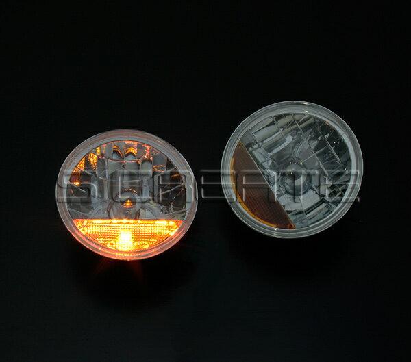 デュアルスパーク!丸型クリスタルガラスヘッドライト+オレンジレンズ/ハイゼット・サンバー