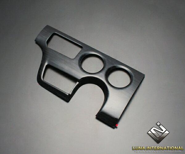 (ルナインターナショナル) ハイエース 200系 4型(DX専用) 黒木目 (1ピース[1P]) 3D立体インテリアパネル / パネル 内装 インパネ