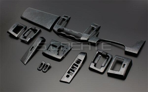 3D立体インテリア内装ウッドパネル MPV(LY3P) 黒木目調 13ピース/13P / インパネ 内装