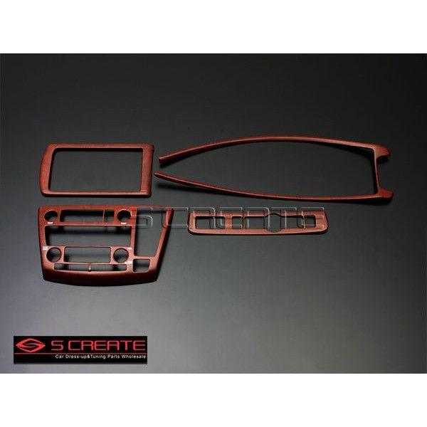 3D立体インテリア内装ウッドパネル エルグランド(E51(後期用)) 柾木目調 4ピース/4P / インパネ 内装