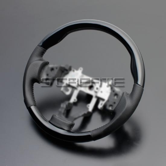 パレット MK21S [2008/1〜] スポーツタイプ ウッドコンビステアリング (ピアノブラック) / steering ハンドル ホイール