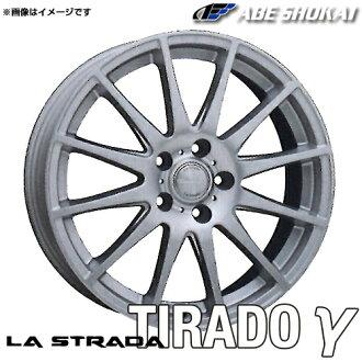 La Strada tirade gamma aluminum wheel (nothing) 13x4.0 +42 100 4 hole (silver) / 13 inches LA STRADA TIRADOγ