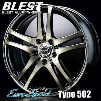 BLEST(胸部)欧元体育类型502铝轮罩(1)16x6.5+36 114.3 5洞孔(钛黑色)/EuroSport Type 502 16英寸
