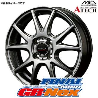 Finals mind GR-Nex aluminum wheel (nothing) 13x4.0 +43 100 4 hole (metallic gray) / 13 inches FINAL MIND ジーアールネックス