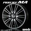 ライツレー MA aluminum wheel (nothing) 13x4.0 +44 100 4 hole (I polish black metallic /) / 13 inches RIZLEY エムエー