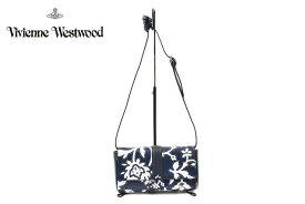 ヴィヴィアン ウエストウッド バッグ ショルダーバッグ レディース ブランド Vivienne Westwood バンダナフラワー 2way ハンドバッグ ネイビー 系 日本製 | 女性 婦人 牛革 ギフト 【あす楽】