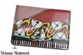 ヴィヴィアン ウエストウッド パスケース カードケース レディース ブランド Vivienne Westwood 二つ折り 箱無 テクトニック プレート 赤 レッド | 女性 婦人 本革 3618W861【あす楽】