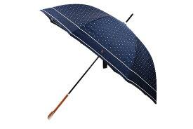 ポロ ラルフローレン 傘 雨傘 長傘 レディース ブランド POLO Ralph Lauren ドット 紺 白 ネイビー × ホワイト 60cm 女性 婦人 【あす楽】
