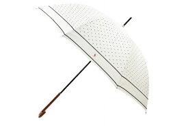 ポロ ラルフローレン 傘 雨傘 長傘 レディース ブランド POLO Ralph Lauren ドット 白 紺 オフホワイト × ネイビー 60cm 女性 婦人 【あす楽】