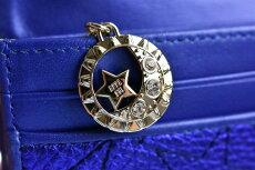 アナスイ長財布レディースブランドANNASUIがま口オーバーザムーンフラップ専用箱付ブルー314021