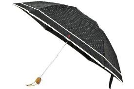 ラルフローレン 折りたたみ 日傘 レディース Ralph Lauren ドット × ピコレース 黒 ブラック 系 | 女性 婦人 ブランド 晴雨兼用 遮光 UVカット 母の日 ギフト 【あす楽】