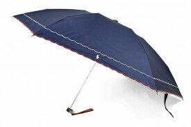 ラルフローレン 折りたたみ 日傘 レディース ブランド Ralph Lauren フリル ウェーブ 刺繍 晴雨兼用 遮光 ネイビー 女性 婦人 UVカット 母の日 ギフト 【あす楽】