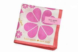 ケイト スペード ニューヨーク ハンカチ 1枚 レディース kate spade new york ブランド ハート クローバー 四つ葉 ピンク 女性 婦人 ケート 【あす楽】